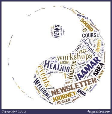 AAMAR Healing Tag Cloud