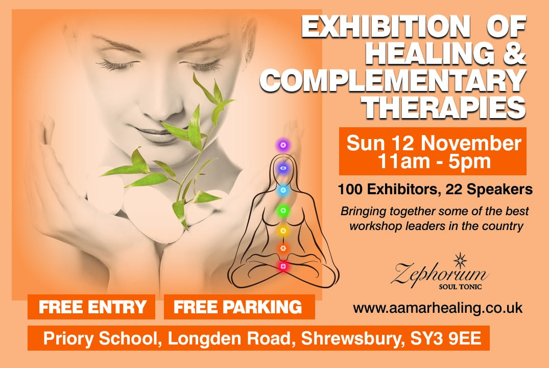 Flyer for Exhibition of Healing & Complementary Therapies
