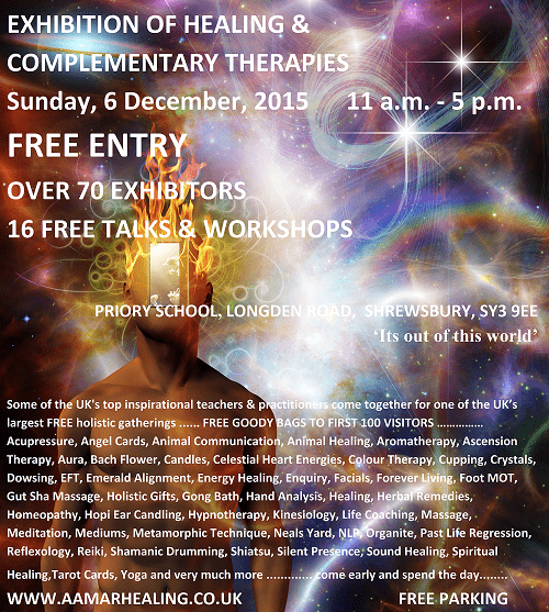 Exhibition of Healing & Complementary Therapies poster