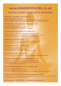 June Meagher holistic courses