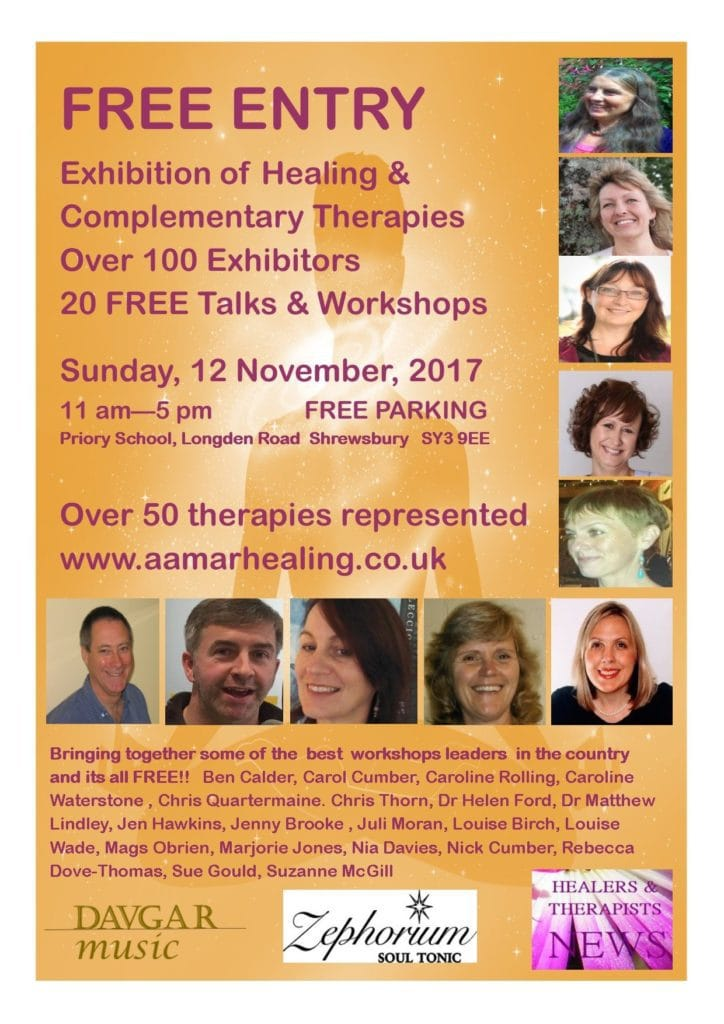 2017 Exhibition of Healing & Complementary Therapies and Speakers