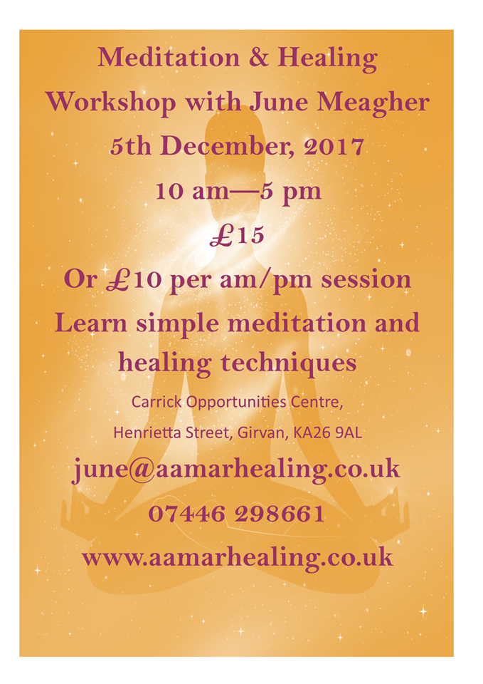 Meditation and Healing Workshop with June Meagher