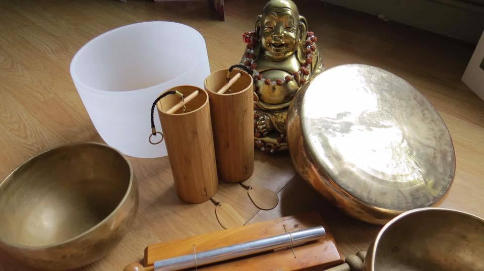 Instruments for sound healing workshops June Meagher