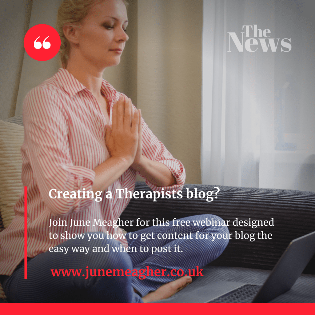 Creating a therapists blog